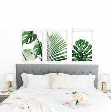 Botanical Flowers Set of 3 Bedroom FRAMELESS Wall Art Prints Home Decor A4, A5