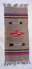 Accent Rug Grey with Red White Blue Bird Two Arrows Stripes Vintage