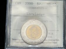 2000 - Knowledge - Canadian 2 Dollar - ICCS Graded MS-65