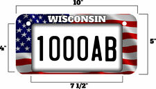 "5""X10"" UTV/ATV license Plate, Wisconsin USA Style License Plate"