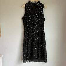 White House Black Market Womens Shift Dress Gold Metallic Jacquard Lined 14 New