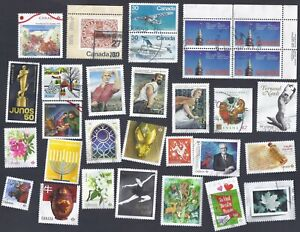 CANADA lot # 144 ; Mix Commemorative recent and older ; Used F/VF