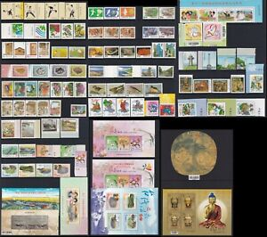 Taiwan Stamp 1990-00s 6 pages of sets and mini sheets, MNH, VF