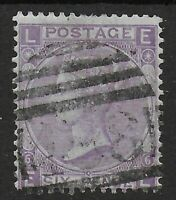 SG107. 6d.Bright Violet(With Hyphen)Plate 6.Light Cancel & Good Colour.Ref:07100