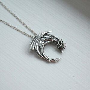Fashion Stainless Steel Men Dragon Pendant Dragon Badge Pendants Chain Necklace