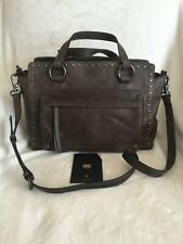 frye & co. Leather Stud Satchel - Victoria, Gray, New