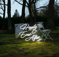 Happily Ever After Neon Sign Wedding Home Gift Lamp