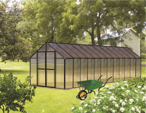 8' x 24' Black Monticello Greenhouse by Riverstone - Free Shipping