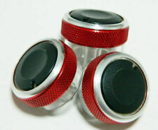 FORD FOCUS RS ST C-MAX S-MAX MONDEO HEATER AIR CON KNOBS UPGRADE IN RED COOL