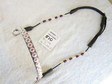 *** 510 *** Arab Arabian cable beaded Show Halter/bridle  - WEAN/Yearling size*