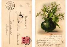 """CPA """"Blumentisch"""" Meissner & Buch Litho Serie 1054 (730810)"""