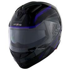 1Storm DOT Motorcycle Modular Full Face Helmet Flip up Dual Visor Tron Purple
