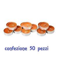 Set 50 Pezzi Candele Arancioni Tealight Lumini moc