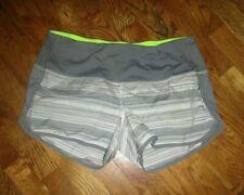 Lululemon Women's Run Speed SHORTS Twisted Stripe Fossil White Silver Antidote 8