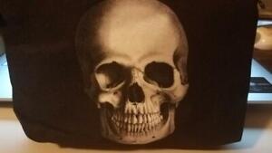 MIP- Fashion Style 3D Printed Skull Women Black & White Beauty Case Travel Bag