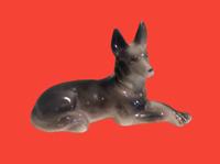 Vintage German Shepherd Porcelain Dog Figurine