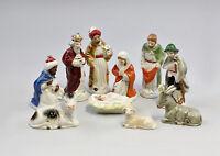 9942277 Wagner&Apel Porzellan 10 Figuren Weihnachtskrippe bunt  H11cm