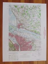 Portland Oregon 1958 Original Vintage USGS Topo Map