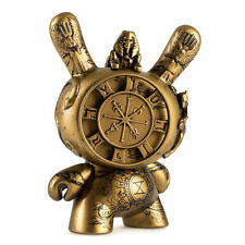 """Kidrobot SDCC 2017 Exclusive Arcane Divination Gold Wheel of Fortune 3"""" Dunny"""