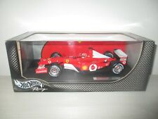 FERRARI 2002 MICHAEL SCHUMACHER HOTWHEELS RACING 85651 SCALA 1:18