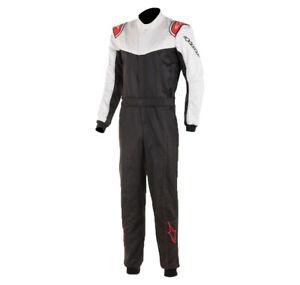 Alpinestars Stratos Race Suit FIA 2-Layer Racesuit Rally - All Sizes BLACK/WHITE