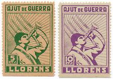 Sello Local Guerra Civil Llorens -Cat. Guillamon 806 y 807.  ORD:786