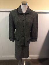 St. John Collection Tweed W/Fringe Detail Skirt Suit Size 12/14