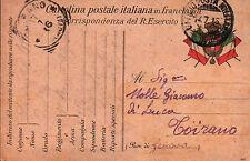 FRANCHIGIA 1916 1° RGT ALPINI 116 COMPAGNIA ZONA DI GUERRA BTG MERCANTOUR C4-956