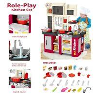 Kitchen Kids Play Set Pretend Baker Toy Cooking Playset Girls Food Accessories T