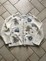 Ugly Christmas Sweater From Croft And Barrow Size Large Gingerbread Men