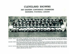 1957 CLEVELAND BROWNS TEAM 8x10 PHOTO FOOTBALL HOF NFL ROOKIE YEAR JIM BROWN