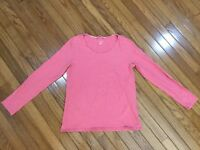 Lands' End Women's Pink Top Blouse Size S (6 - 8)