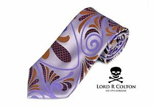 Lord R Colton Masterworks Tie Lavender Hysteria Check Silk Necktie - $195 New