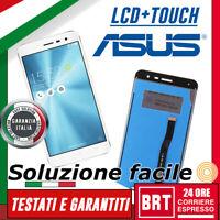 DISPLAY LCD+TOUCH SCREEN PER ASUS ZENFONE 3 ZE520KL Z017D Z017DA SCHERMO BIANCO!