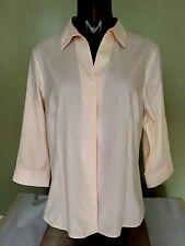 Jones New York Button Down Shirt Pink Cotton Wrinkle Free - Non Iron Sz M