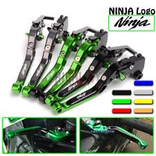 Adjustable Folding Brake Clutch Levers For KAWASAKI ZXR400 GPZ500S/ EX500R NINJA