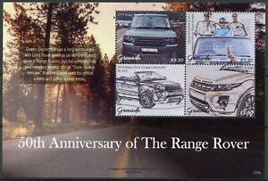 Grenada Cars Stamps 2021 MNH Range Rover 50th Anniv Queen Elizabeth II 4v M/S