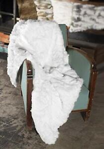 Natural Luxury 100% Real Rabbit Fur Throw Bedspread Blanket Carpet King Queen
