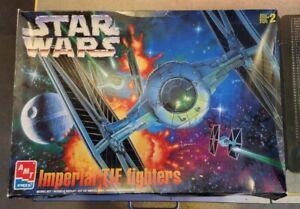 STAR WARS IMPERIAL TIE FIGHTERS MODEL KIT 8438 AMT ERTL 1990's