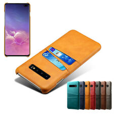 For Samsung Galaxy S10 S9 S8 Plus S7 S6 Case Leather Back Card Slot Wallet Cover