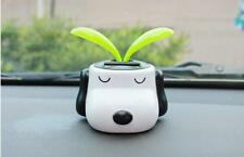 2PC Cute Car Styling Solar Dog Doll with Shaking Sunflower For Car Ornaments