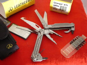 "Leatherman USA Titanium CHARGE XTi 6-3/8"" Tool Multi Function Knife MINT IN BOX"