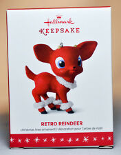 Hallmark: Retro Reindeer - Red Chiwawa Puppy - 2016 Keepsake Ornament