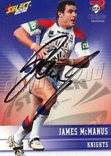✺Signed✺ 2012 NEWCASTLE KNIGHTS NRL Card JAMES MCMANUS
