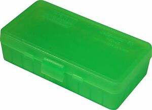 40 S&W/45 ACP Ammo Box Clear Green 50 Round (Quantity 2) Free Shipping (MTM)