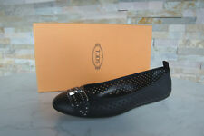 Tods Tod´s 39 BALLERINES CHAUSSONS CHAUSSURES BASSES NOIR NEUF