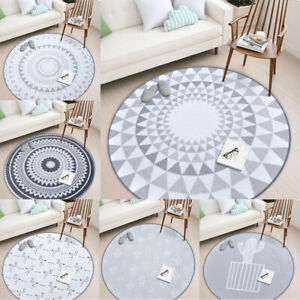 Fashion Round Area Rugs Floor Mats Sitting Room Bedroom Carpet Chair Cushion