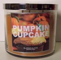 Bath & Body Works 3 wick 14.5 oz Candle Slatkin Pumpkin Cupcake