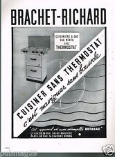 A- Publicité Advertising 1950 Cuisinière à Gaz Brachet-Richard