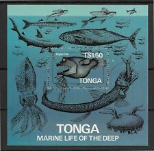 TONGA *1985* S/Sheet * SELF ADHESIVE MNH** Marine Life - Mi.BL6